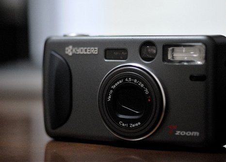 buy point and shoot compact film camera Kyocera T Zoom